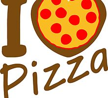i love pizza salami Food tasty love heart by Style-O-Mat