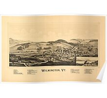 Panoramic Maps Wilmington Vt Poster