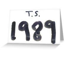 Taylor Swift 1989 Merch Greeting Card