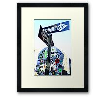 Two Way Art Directions  Framed Print