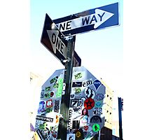 Two Way Art Directions  Photographic Print