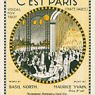 C'EST PARIS (vintage illustration) by ART INSPIRED BY MUSIC