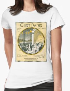 C'EST PARIS (vintage illustration) Womens Fitted T-Shirt
