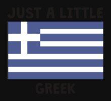 Just A Little Greek Baby Tee