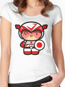 Chibi-Fi Nihon Sencho Women's Fitted Scoop T-Shirt