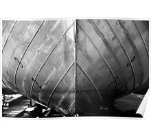 Aluminium hull of a boat Poster