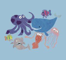 Underwater Creatures One Piece - Short Sleeve