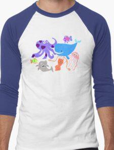 Underwater Creatures Men's Baseball ¾ T-Shirt