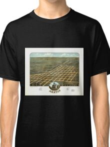 Panoramic Maps Bird's eye view of Austin Mower County Minnesota 1870 Classic T-Shirt