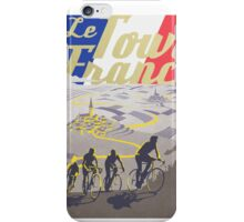 Le Tour de France retro poster iPhone Case/Skin