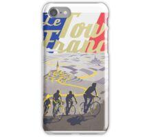 Le Tour de France retro poster iPhone Case/Skin