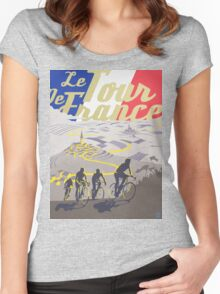 Le Tour de France retro poster Women's Fitted Scoop T-Shirt