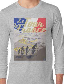 Le Tour de France retro poster Long Sleeve T-Shirt