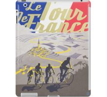 Le Tour de France retro poster iPad Case/Skin