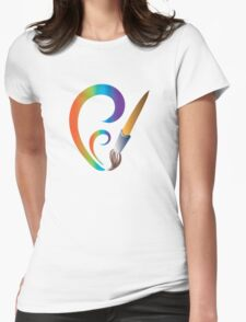 The brush Womens Fitted T-Shirt