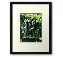 Soldiers Sculptures Framed Print