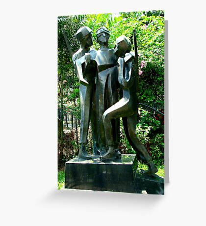 Soldiers Sculptures Greeting Card
