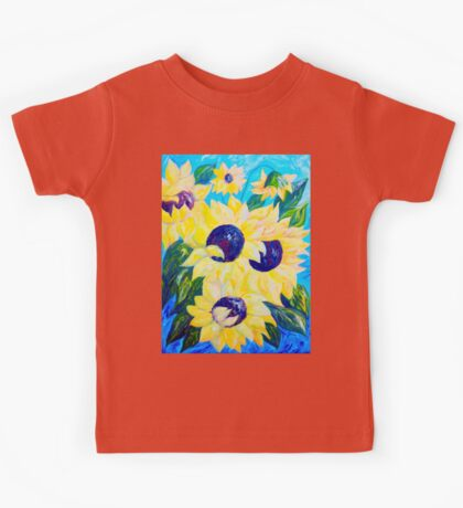 Sunflowers Bathed in Light Kids Tee