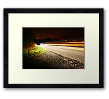 Car Lights Framed Print