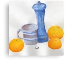 Still Life - Cup, Pepperpot & Oranges Canvas Print