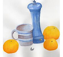 Still Life - Cup, Pepperpot & Oranges Photographic Print