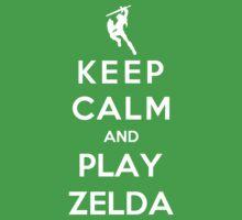 Keep Calm And Play Zelda by Royal Bros Art