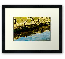 Rocks and Blue Sky Reflections Framed Print