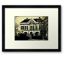 The haunted house 'round the corner Framed Print