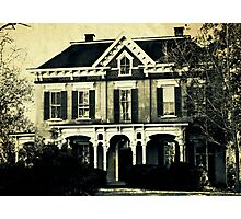 The haunted house 'round the corner Photographic Print