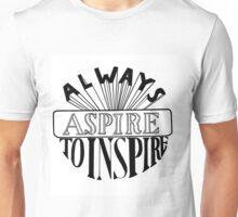 Always Aspire Typography Unisex T-Shirt