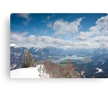 St. Wolfgangsee from Zwölferhorn Canvas Print