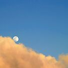 Moon At Sunset by Henrik Lehnerer