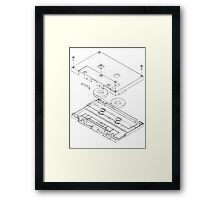 Exploded Cassette Tape  Framed Print