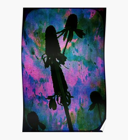 Flowers In Water Color Beauty. Poster