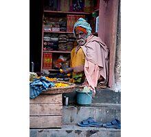Merchant In Doorway Photographic Print