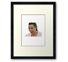 Kim Kardashian Crying Framed Print