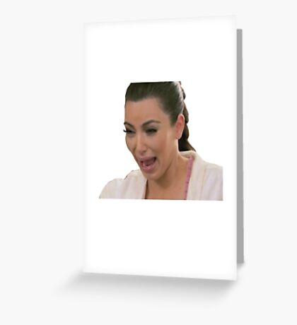 Kim Kardashian Crying Greeting Card