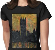 Sunset Over Parliament Womens Fitted T-Shirt