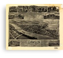 Panoramic Maps Dawson Pennsylvania 1902 Canvas Print