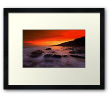 """Red sky at night"" Framed Print"