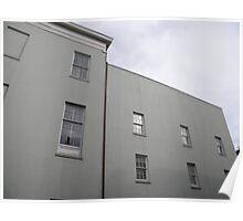 minimalist modern buildings in new orleans Poster
