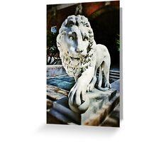 The Lion - U.C. Greeting Card