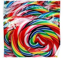 Twirly Whirly Lollipops Poster