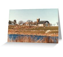 Old New England Farm Greeting Card