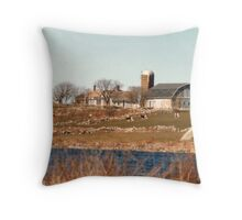 Old New England Farm Throw Pillow