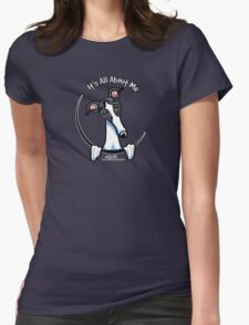 White & Black Greyhound IAAM Womens Fitted T-Shirt