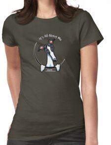 White & Black Greyhound IAAM Womens Fitted T-Shirt
