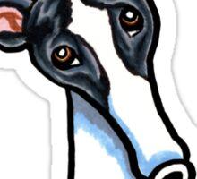White & Black Greyhound IAAM Sticker