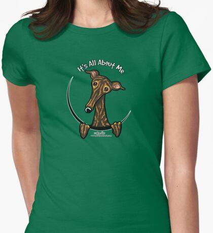 Dark Brindle Greyhound IAAM Womens Fitted T-Shirt