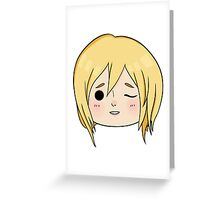 Krista (Historia) Wink! Greeting Card